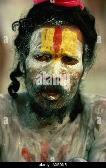 Bemalter Sadhu, Indien - Stock-Bilder