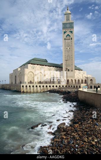 Hassan II Mosque - Casablanca, MOROCCO - Stock Image