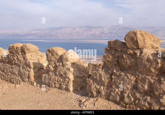 Israel Masada Fort bible history Roman invasion occupation mass Jewish suicide - Stock Image