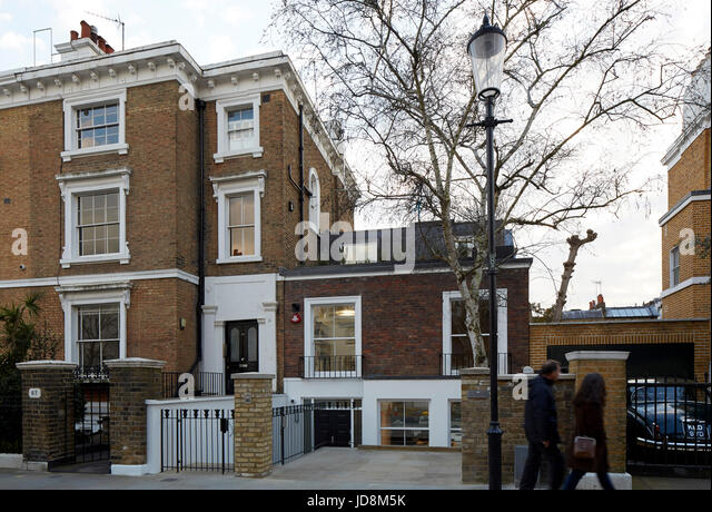 Overall exterior view. Notting Hill House, London, United Kingdom. Architect: Michaelis Boyd Associates Ltd, 2017. - Stock-Bilder