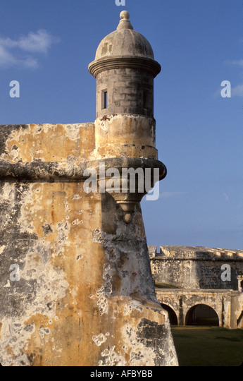 Puerto Rico San Juan Fort del Morro colonial architecture - Stock Image