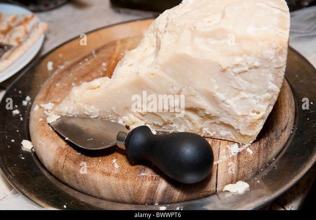 A chunk of Parmesan cheese - Stock Image