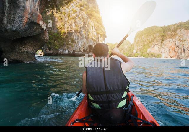 kayaking, sea adventure - Stock-Bilder