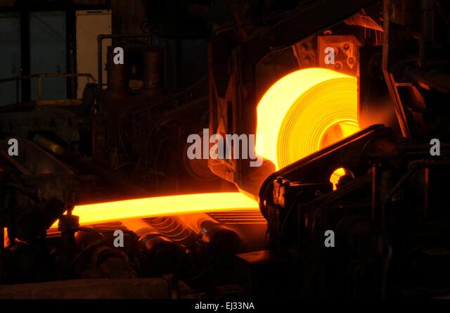 Hot Steel Rolls - Stock Image