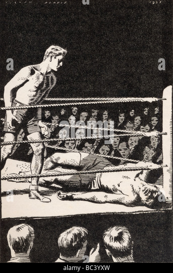 The champion was lying inert on his back. - Stock Image