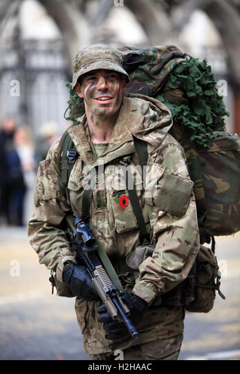 Member of the Honourable Artillery Company at the Lord Mayor's Show, London, UK. - Stock Image
