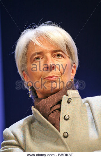CHRISTINE LAGARDE, MINISTER OF THE ECONOMY, INDUSTRY AND EMPLOYMENT, 91ST CONGRESS OF FRENCH MAYORS AND REGIONAL - Stock Image