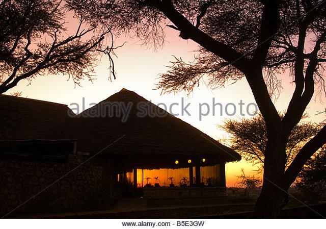 Sunrise Tarangire Safari Lodge Tarangire National Park Tanzania - Stock Image