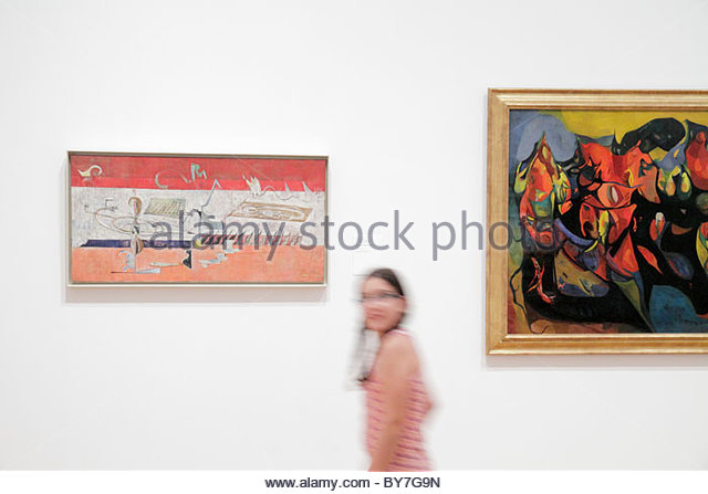 Philadelphia Pennsylvania Philadelphia Museum of Art institution exhibition collection painting artwork Mark Rothko - Stock Image