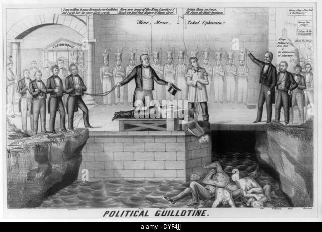 Illustration called Political Guillotine 1850. - Stock-Bilder