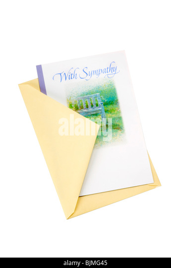 sympathy card and envelope - Stock Image