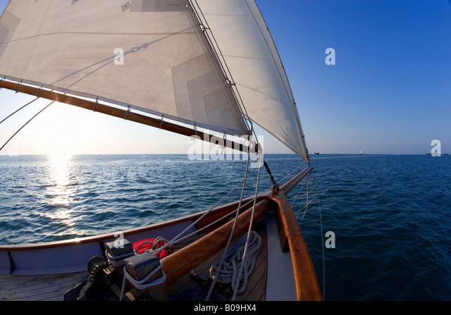 Sailing off the coast of Key West, Florida, USA - Stock Image