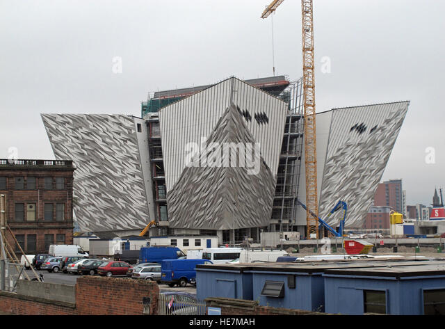 New White Star Titanic Quarter Museum, under construction May 2011, Belfast, Northern Ireland,UK - Stock Image