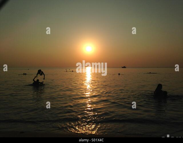 Summer sunset - Stock Image