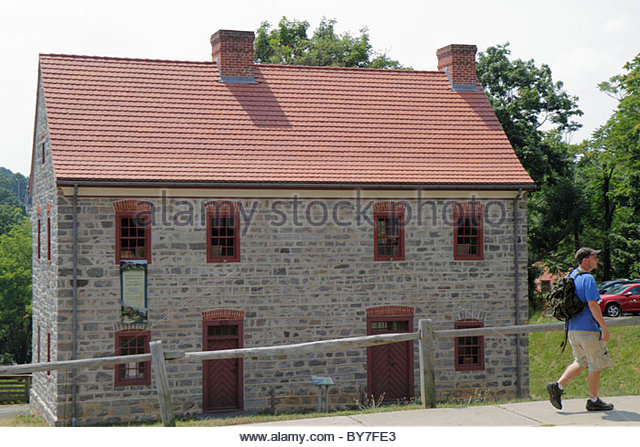 Pennsylvania Bethlehem National Register of Historic Places Colonial America Moravian community Main Street blacksmith - Stock Image