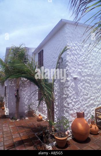 Los Roques Archipelago Venezuela Gran Roque hotel exterior - Stock Image
