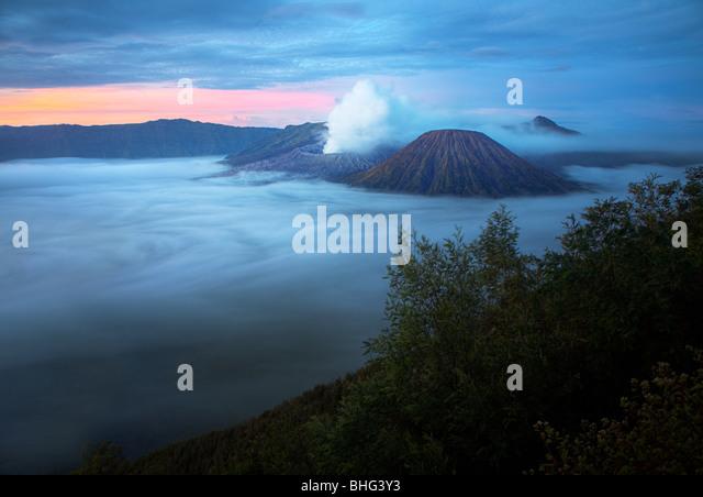 Mount bromo volcano java indonesia - Stock Image