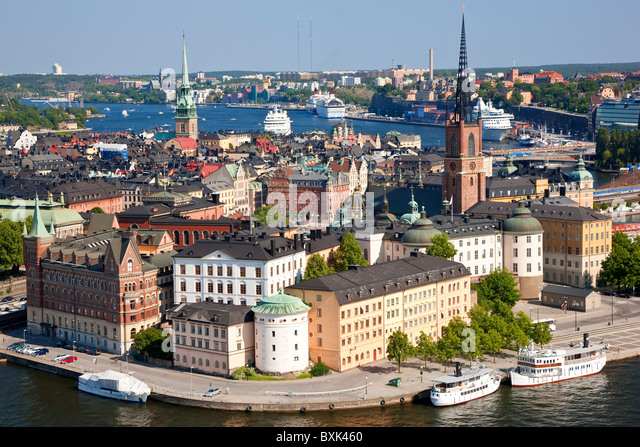 View over Gamla Stan, Stockholm, Sweden - Stock Image