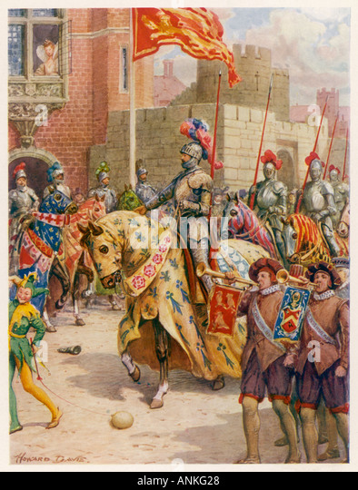 Philip Sidney Jousts - Stock Image