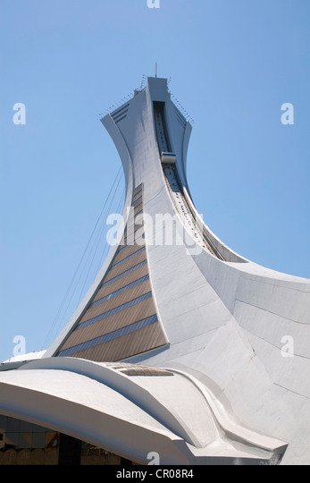 Olympic Stadium, Montreal, Quebec, Canada - Stock Image