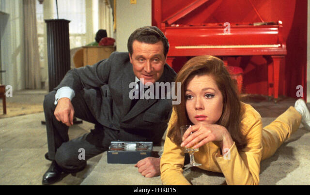 patrick macnee diana rigg stock photos patrick macnee. Black Bedroom Furniture Sets. Home Design Ideas