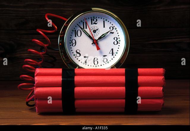 Time bomb simulation - Stock Image