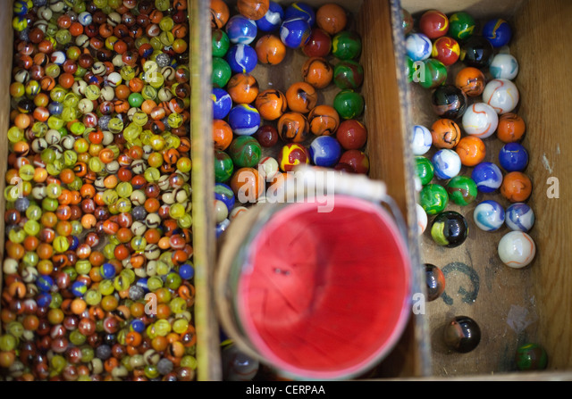 Collection of glass marbles. - Stock Image