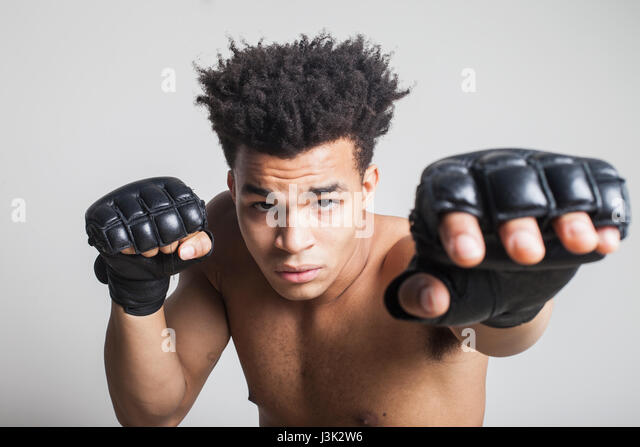 young man boxing - Stock Image