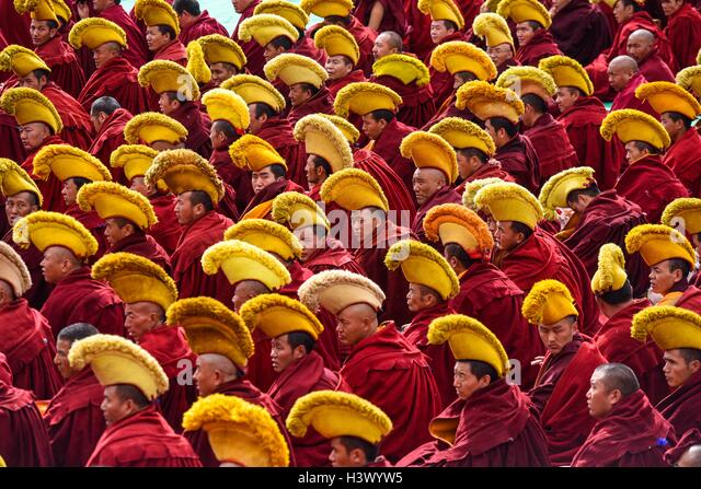 Lhasa, China's Tibet Autonomous Region. 12th Oct, 2016. A ceremony is held to mark the 600th anniversary of - Stock Image