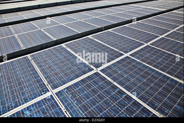 Close up of solar panels - Stock Image