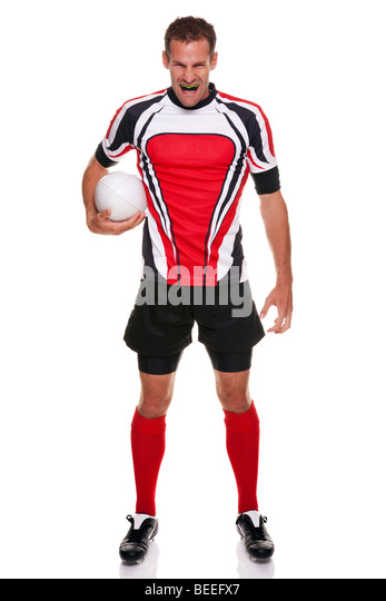 Rugby player - part of a series - Stock Image