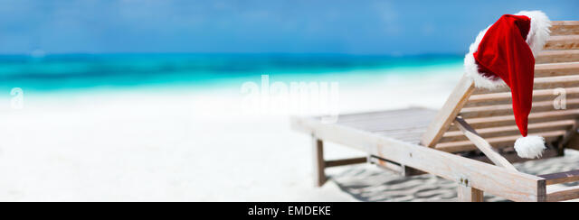 Christmas beach vacation - Stock Image