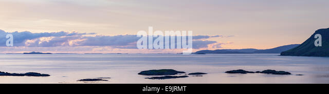 The Inner Hebrides islands from the Isle of Mull, the west coast of Scotland (composite image) - Stock Image