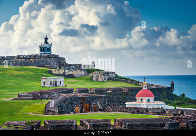 San Juan, Puerto Rico historic Fort San Felipe Del Morro. - Stock Image