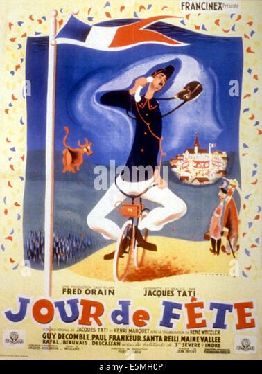 JOUR DE FETE, Jacques Tati, 1949 - Stock Image