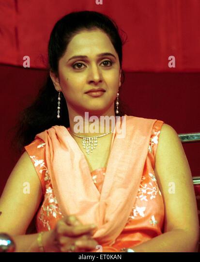 Marathi film personality Mrunal Kulkarni during event in Bombay Mumbai ; Maharashtra ; India NO MR - Stock Image