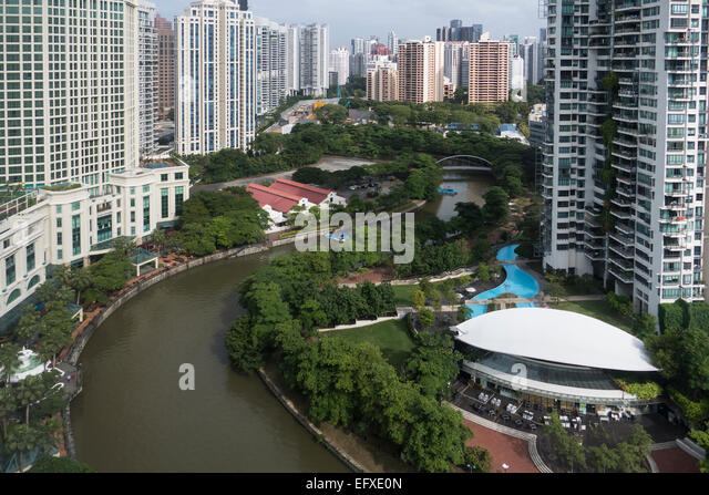 Singapore, River from Riverview hotel - Stock-Bilder