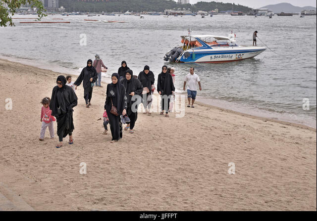 Opinion Muslim women at the beach in burkas