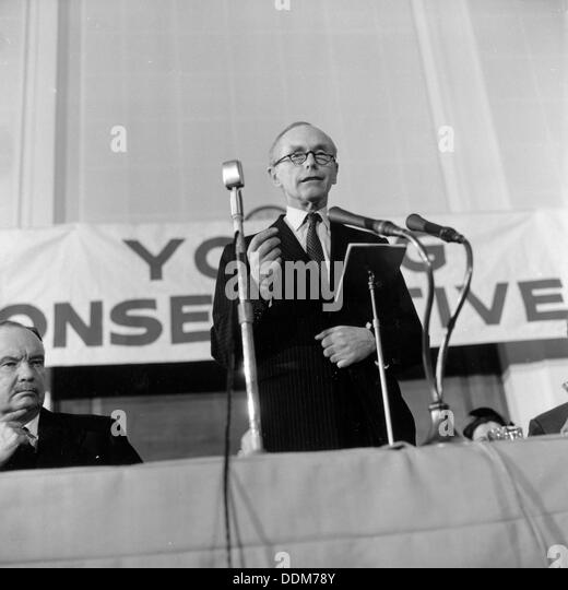 Conservative Prime Minister, Sir Alec Douglas-Hume, 1964. Artist: Henry Grant - Stock Image