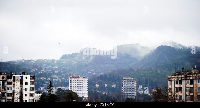 ITAR-TASS: SUKHUMI, ABKHAZIA. APRIL, 2011. Residential houses. (Photo ITAR-TASS/ Vladimir Astapkovich) . . . -/ - Stock Image