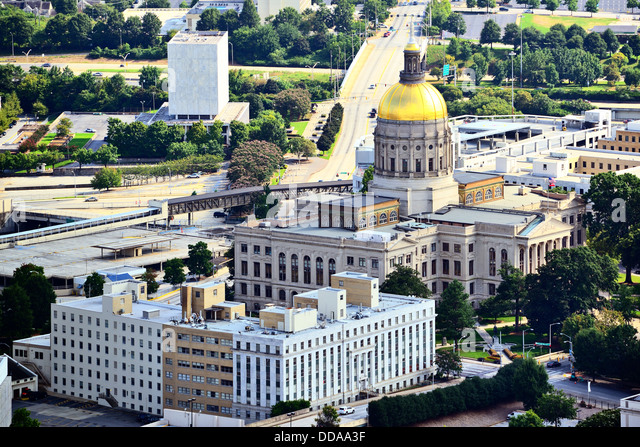 Georgia State Capitol Building in Atlanta, Georgia, USA. - Stock Image