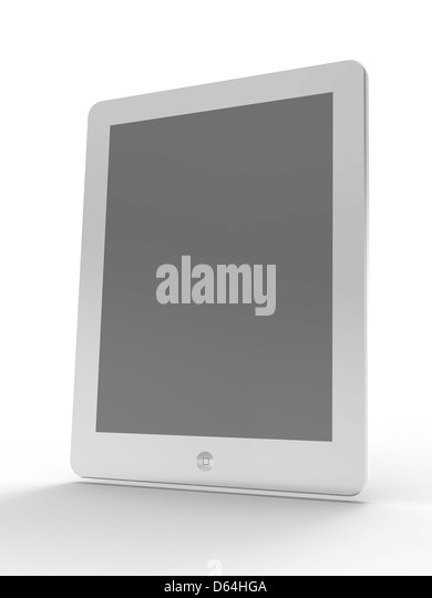 Tablet computer, artwork - Stock Image
