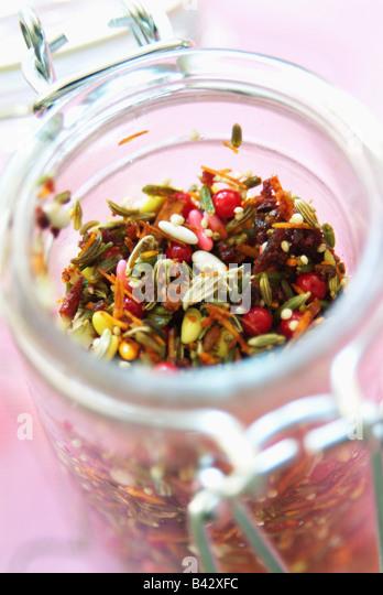 jar of mixed spices - Stock-Bilder