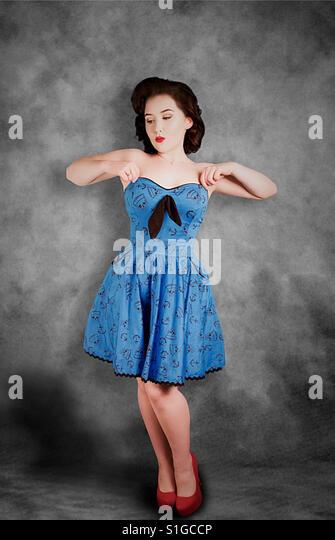 1950s rockabilly pinup girl - Stock-Bilder