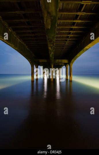 Under Brighton Pier, Brighton, England, UK. - Stock Image