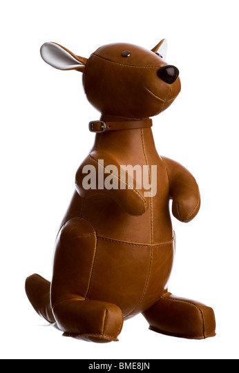 Toy kangaroo - Stock Image