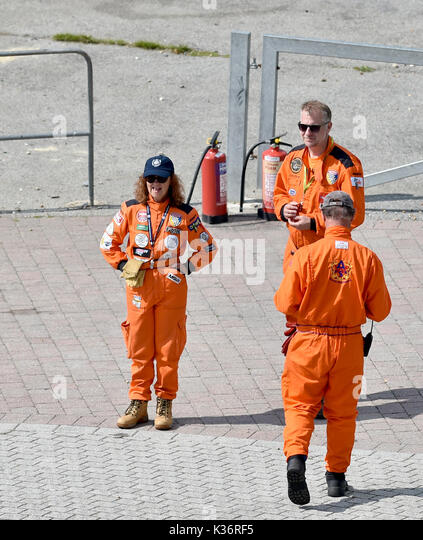Brighton, UK. 2nd Sep, 2017. Stewards at the Brighton Speed Trials held on the seafront . Over two hundred cars - Stock Image