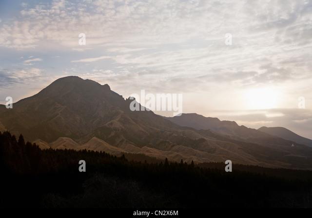Mountain scene, Kirishima, Kyushu, Japan - Stock Image
