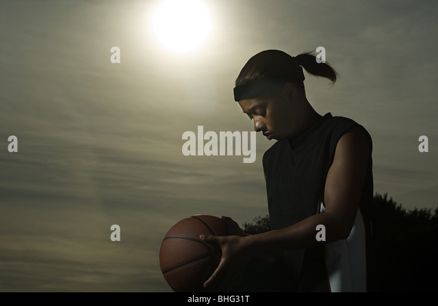 Female basketball player - Stock Image