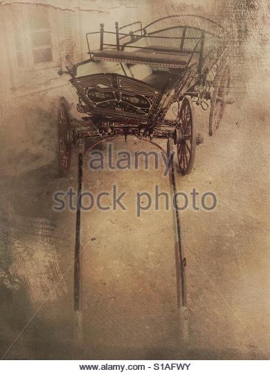 An old horse carriage' - Stock Image